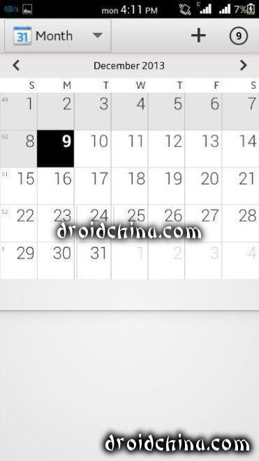 xperia rom calendar
